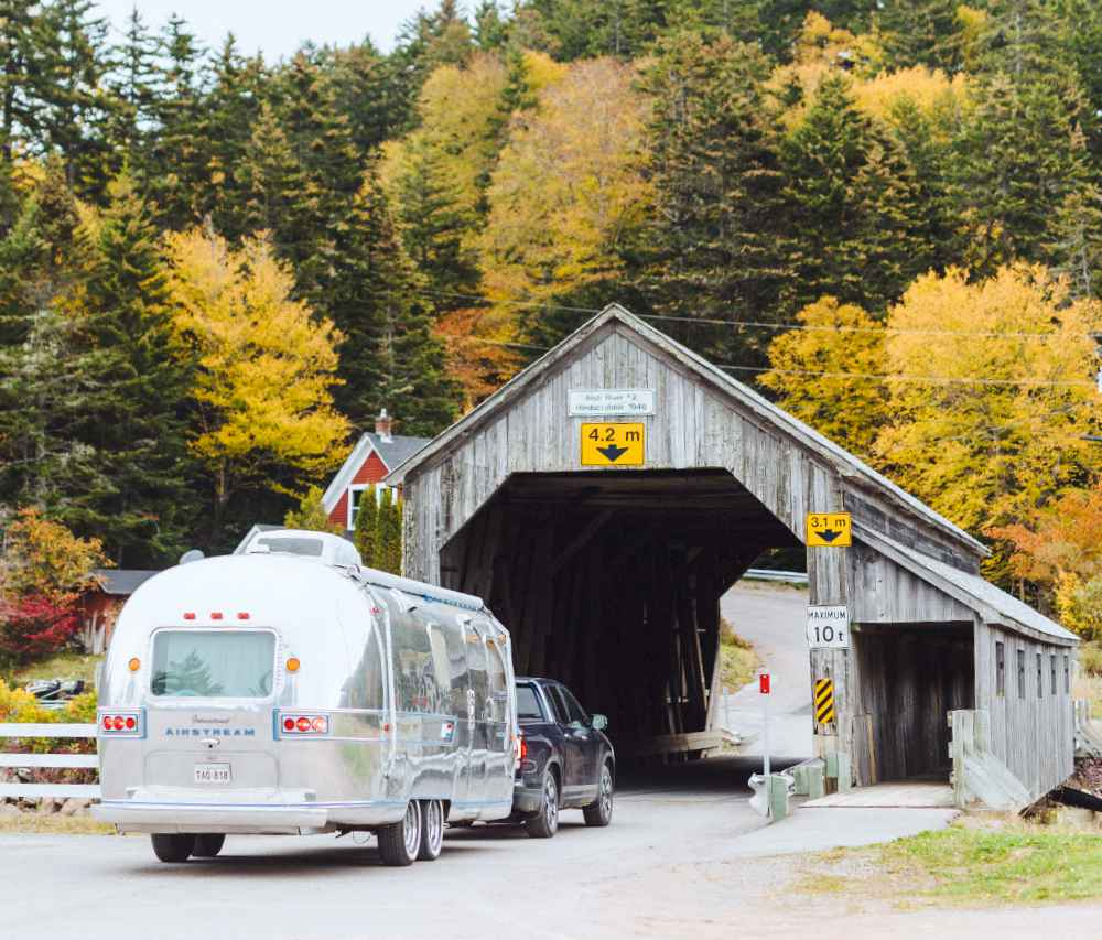 One of St. Martins' two covered bridges